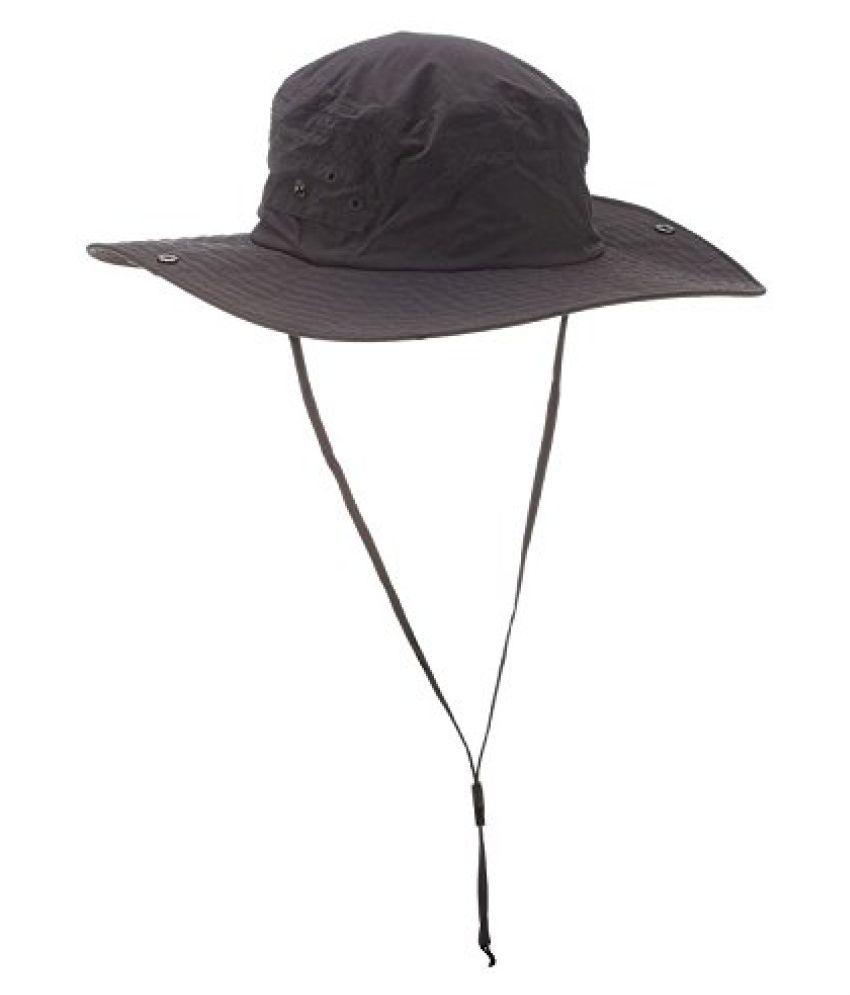 QUECHUA HAT FOR500 UV MEN BLACK