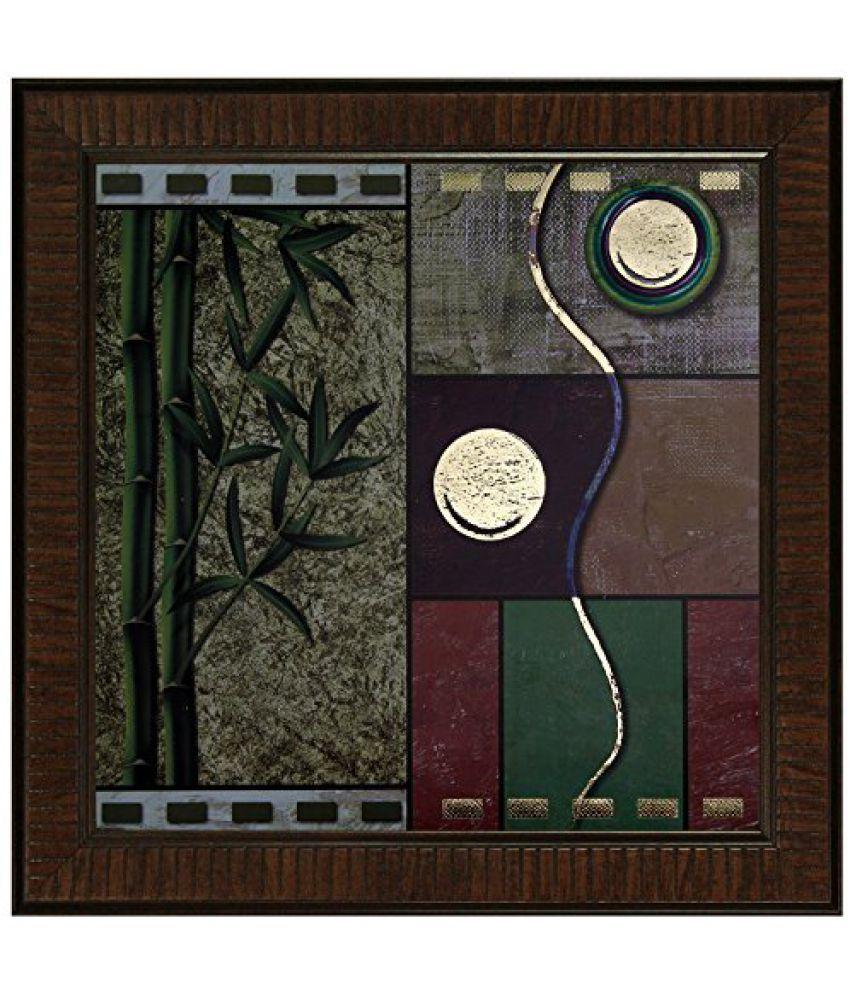 SAF Acrylic Multicolored Framed Painting - (32 cm * 3 cm * 32 cm)