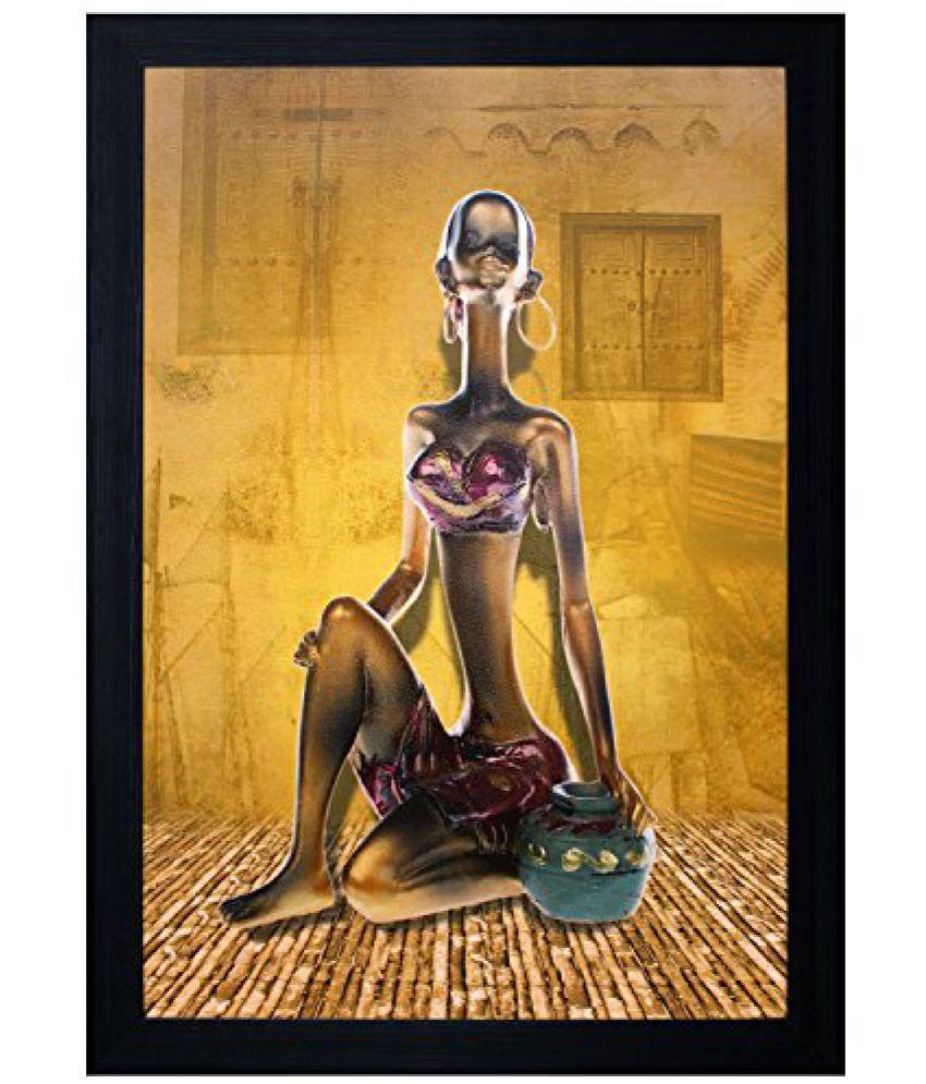 SAF Acrylic Textured Effect Framed Painting (Dimension(LXBXH): 8 X 2 X 12 Cms)