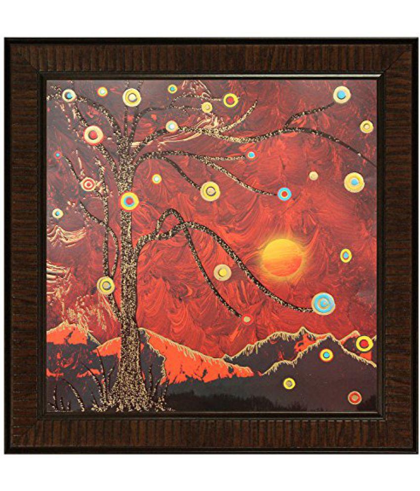 SAF Multi Effect Print Oil Painting (SANFO434, 30 cm x 3 cm x 30 cm)