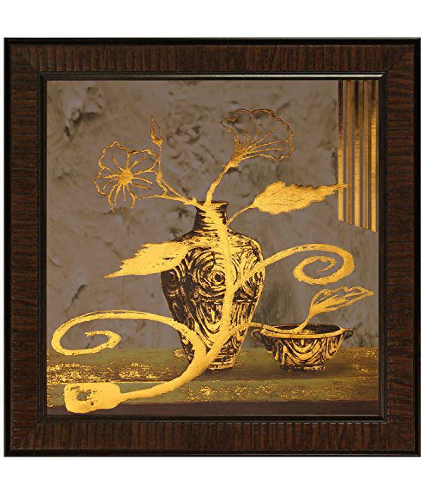 SAF Multi Effect Print Oil Painting (SANFO444, 30 cm x 3 cm x 30 cm)