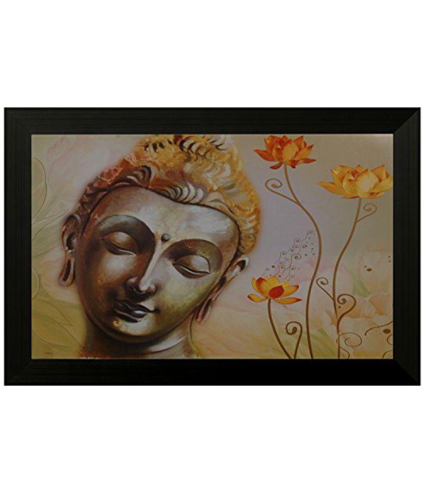 SAF Special Effect Textured Buddha Painting (SANFO139, 30 cm x 3 cm x 45 cm)