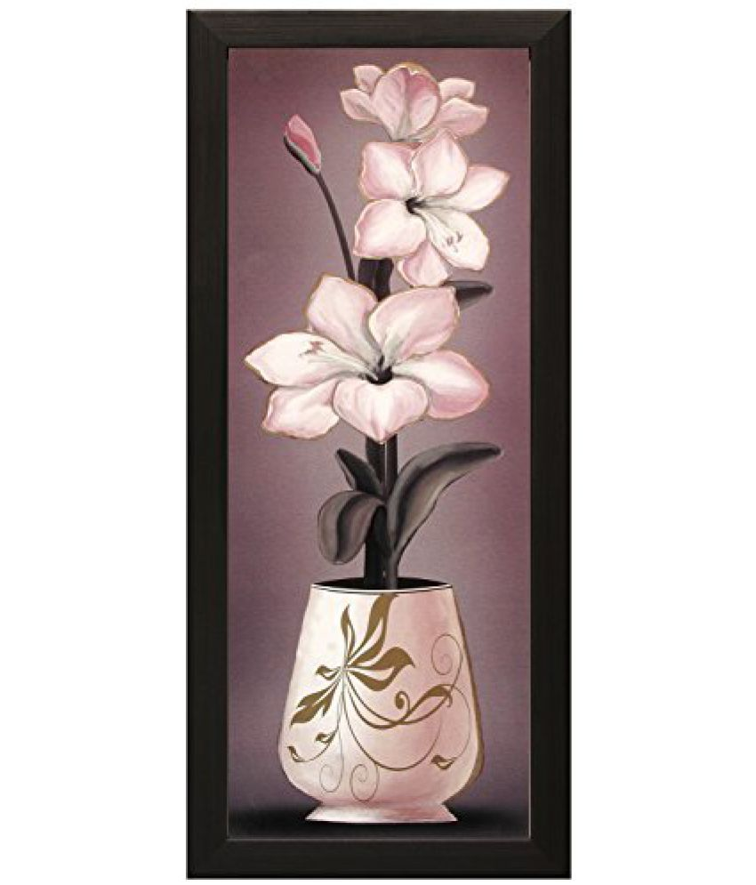 SAF Special Effect Textured Floral with UV Print Painting (SANFO160, 15 cm x 3 cm x 38 cm)