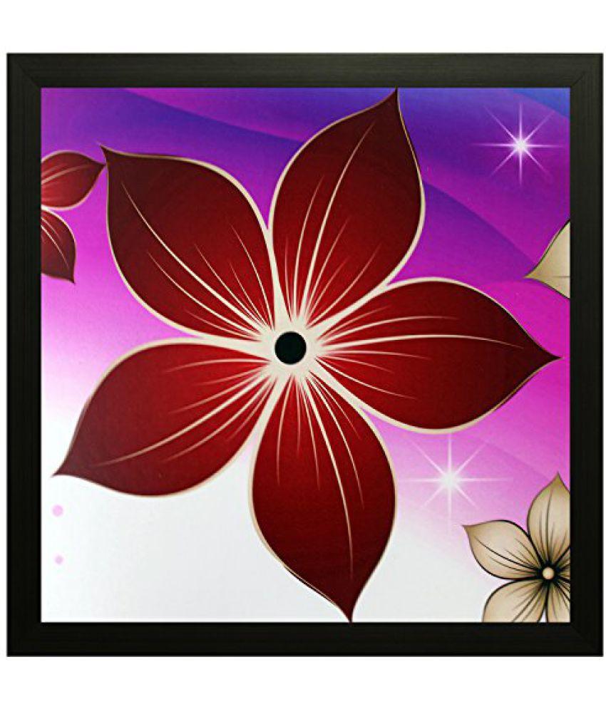 SAF Special Effect Textured Floral Painting (SANFO57, 25 cm x 3 cm x 25 cm)