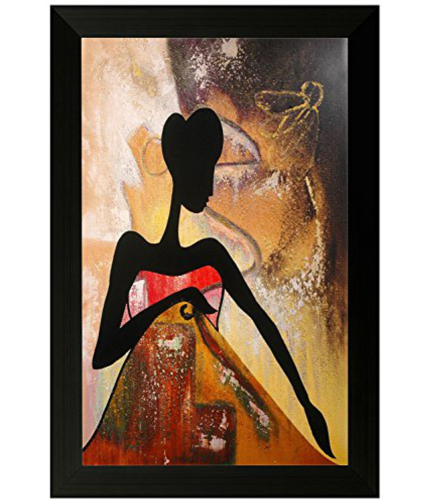 SAF Special Effect Textured Modern Art Painting (SANFO140, 30 cm x 3 cm x 45 cm)