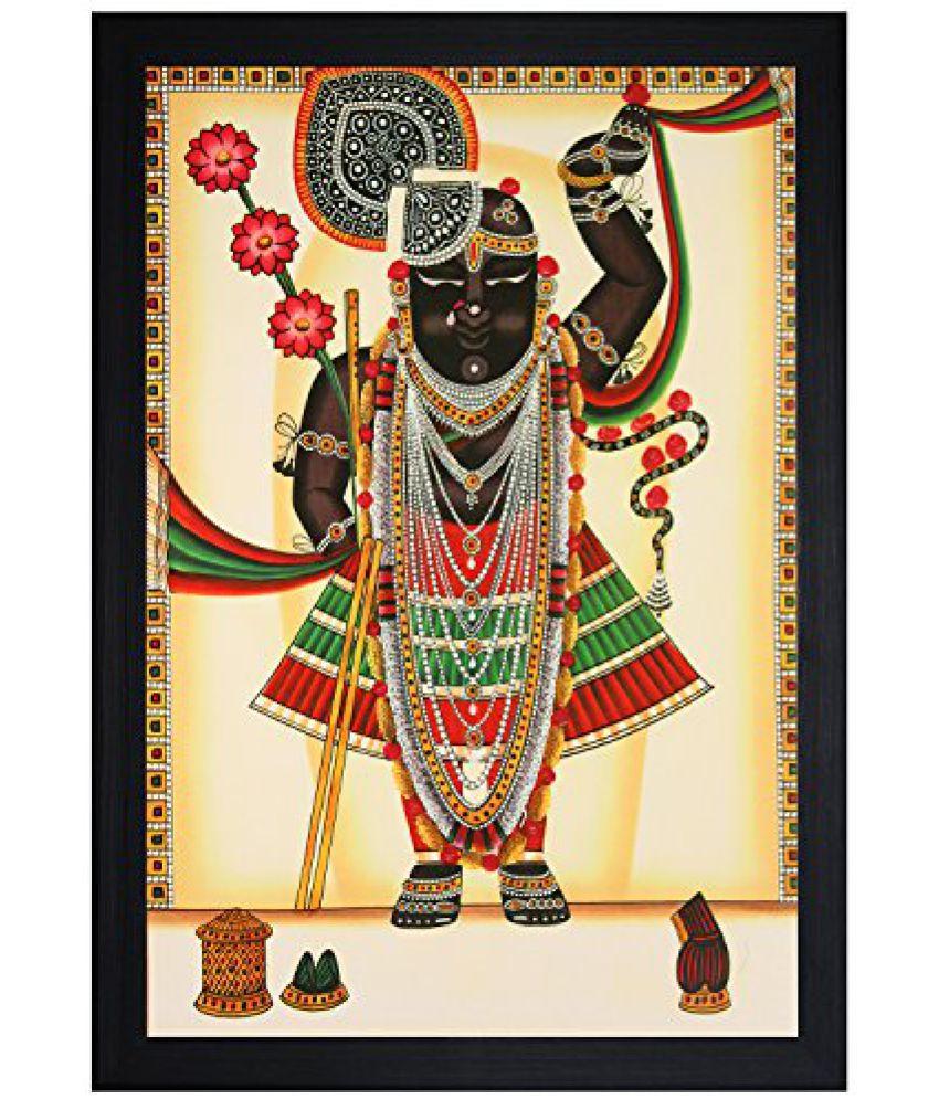 SAF Textured Print with UV Framed Reprint Painting (SANFO873, 30 cm x 3 cm x 45 cm)