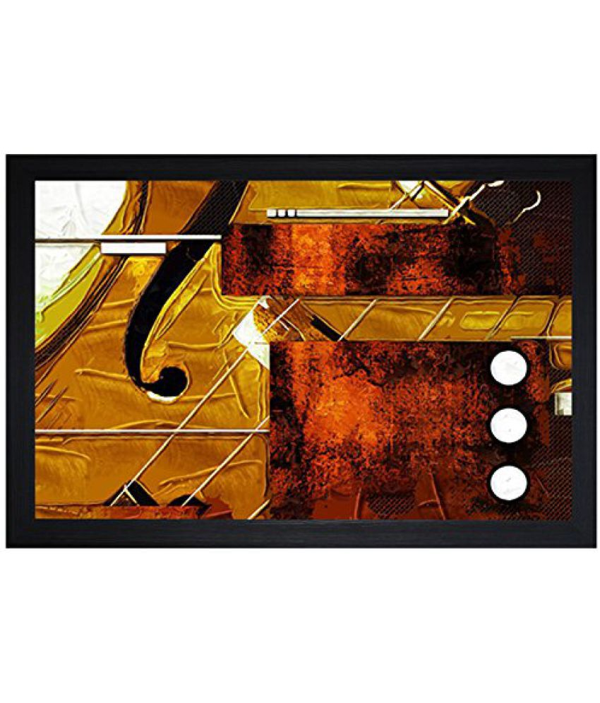 SAF Textured Print with UV Framed Reprint Painting (SANFO730, 30 cm x 3 cm x 45 cm)