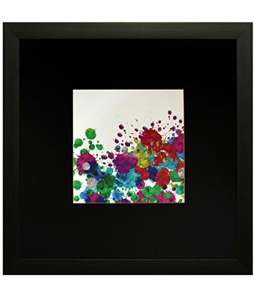 SAF Textured Print with UV Framed Reprint Painting (SANFO585, 25 cm x 3 cm x 25 cm)