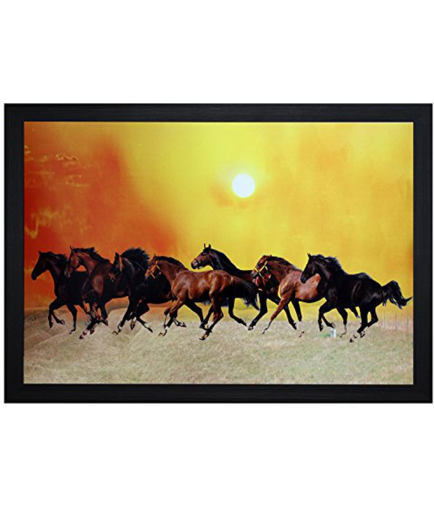 SAF Textured Print with UV Framed Reprint Painting (SANFO618, 20 cm x 3 cm x 30 cm)