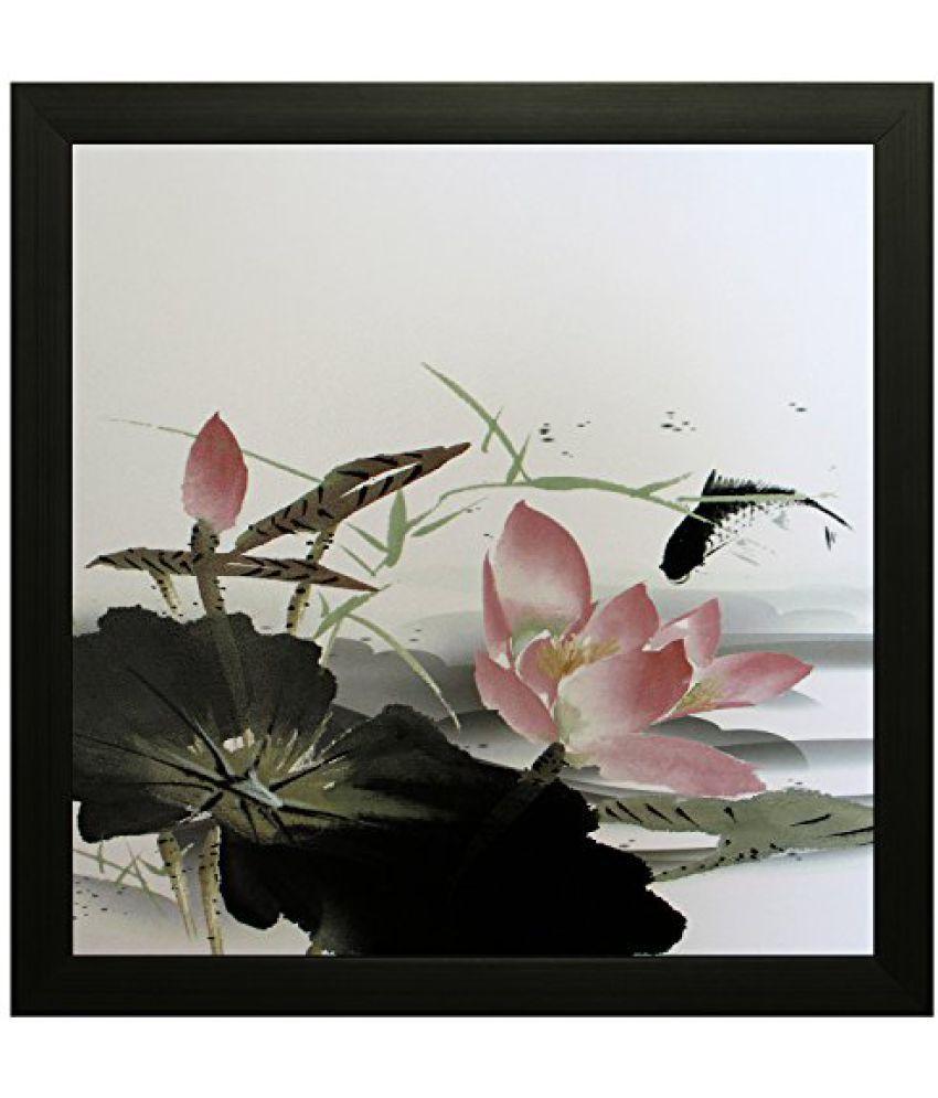 SAF Textured Print with UV Framed Reprint Painting (SANFO653, 20 cm x 3 cm x 20 cm)