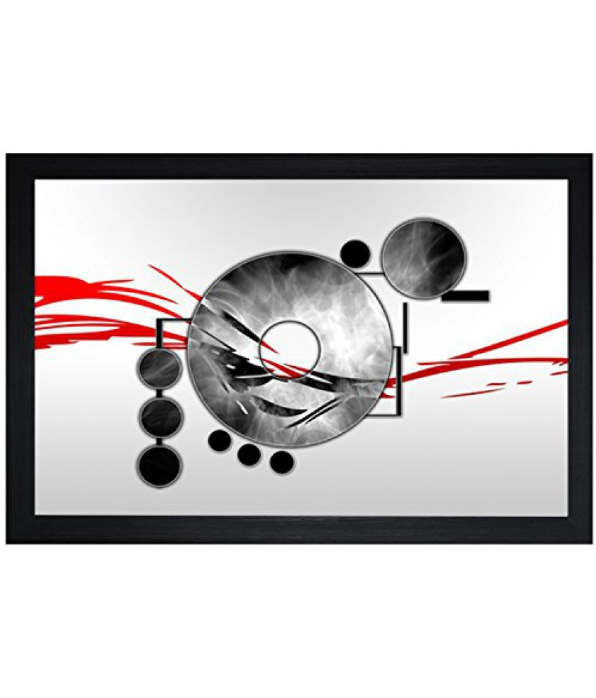 SAF Textured Print with UV Framed Reprint Painting (SANFO717, 30 cm x 3 cm x 45 cm)
