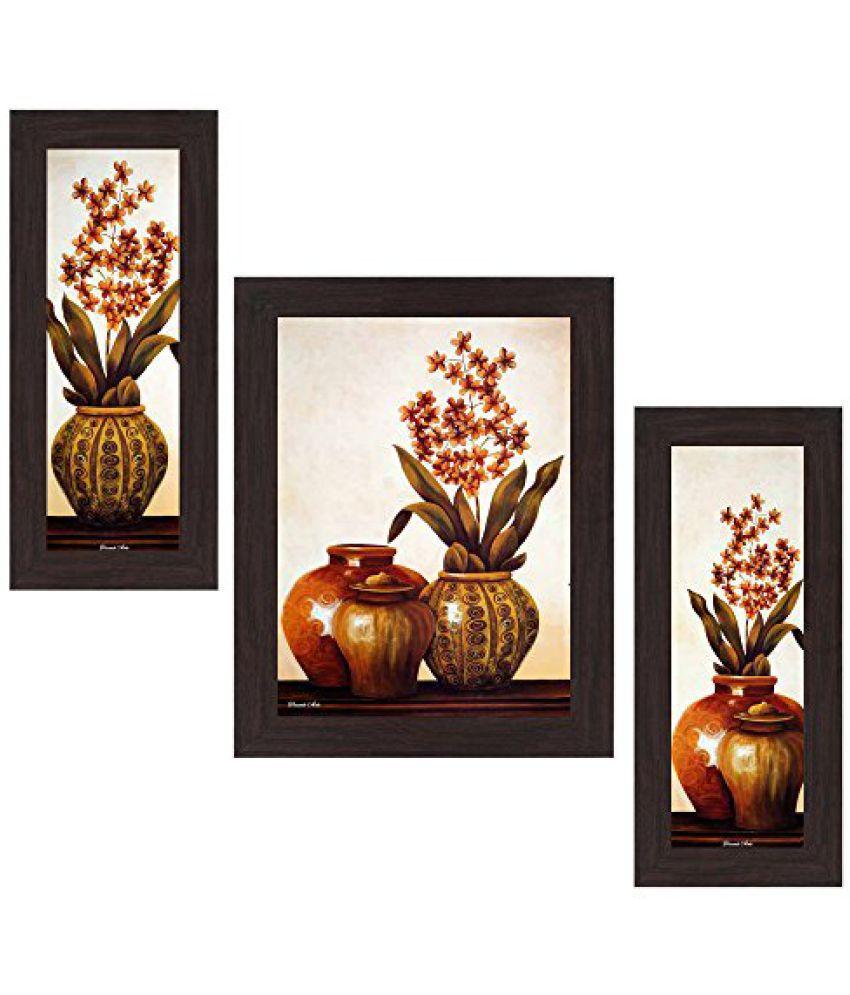 Wens 'Decor-Cut Flowers' Wall Art (MDF, 29.5 cm x 24.5 cm, WSP-4283)