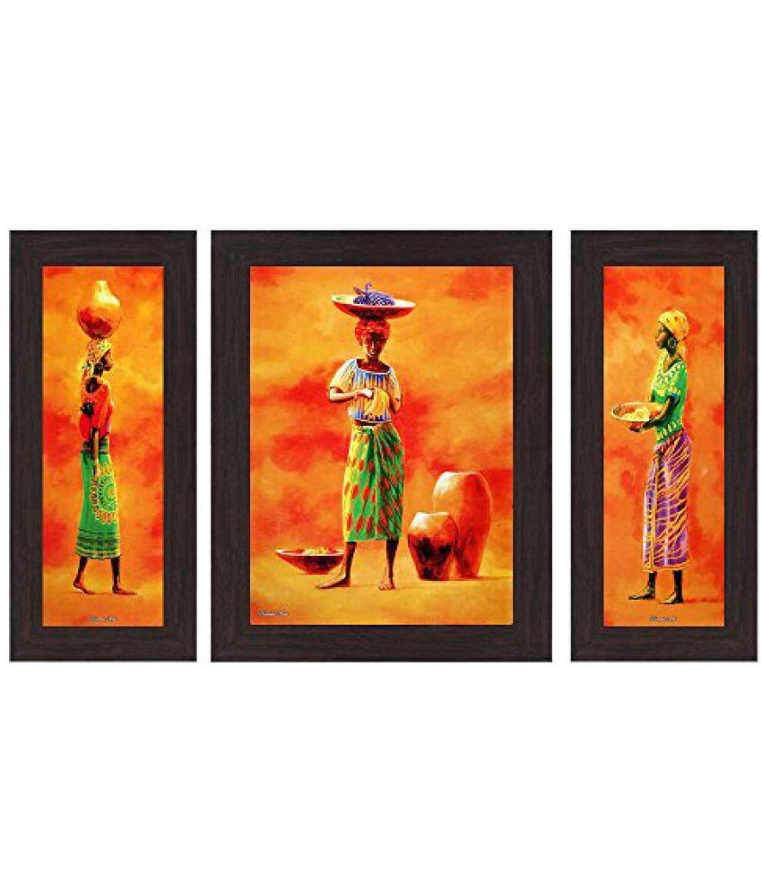 Wens Figurative MDF Wall Art (14.5 cm x 29 cm x 1 cm, Set of 3)