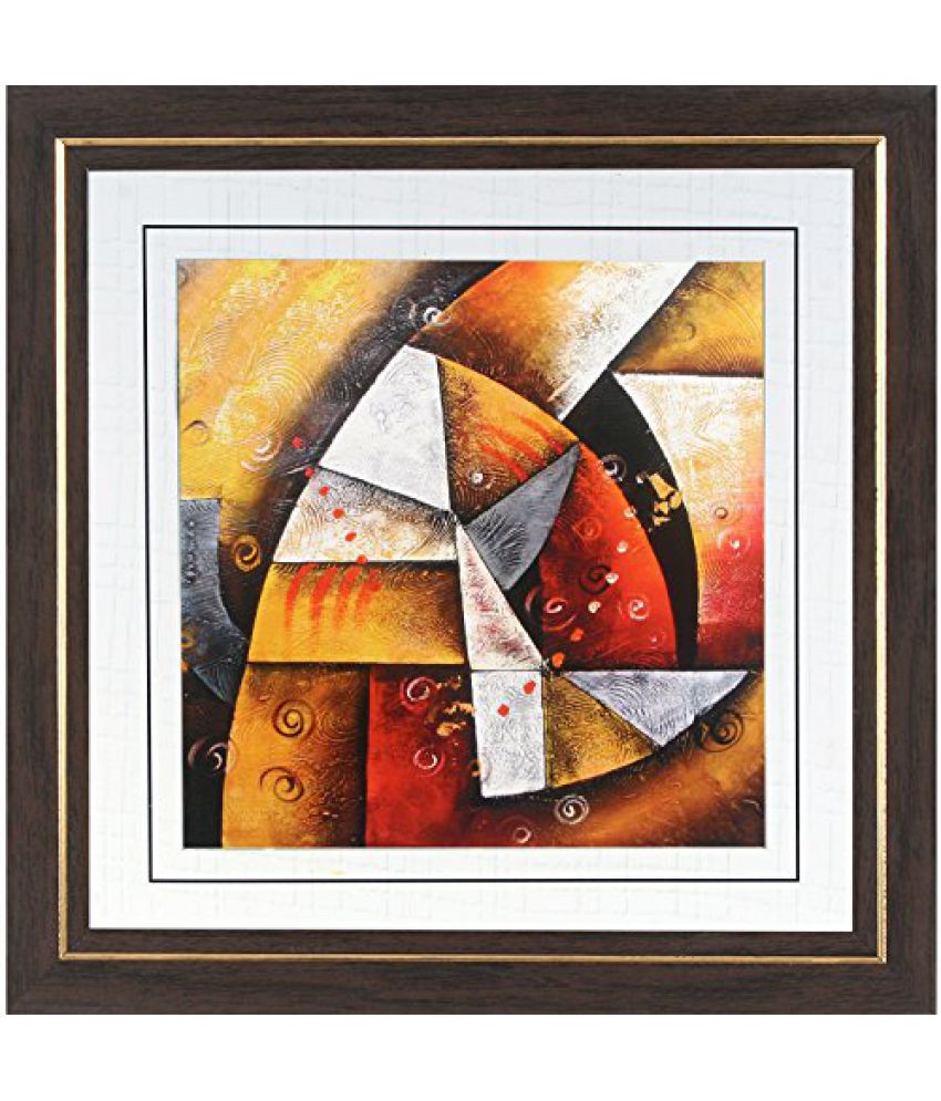 Wens MDF Multicolour Painting - 14 x 14 Inch, Multicolour