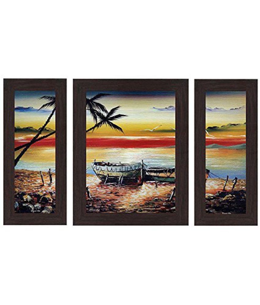 Wens 'Sea Side' Wall Art (MDF, 29.5 cm x 24.5 cm, WSP-4259)