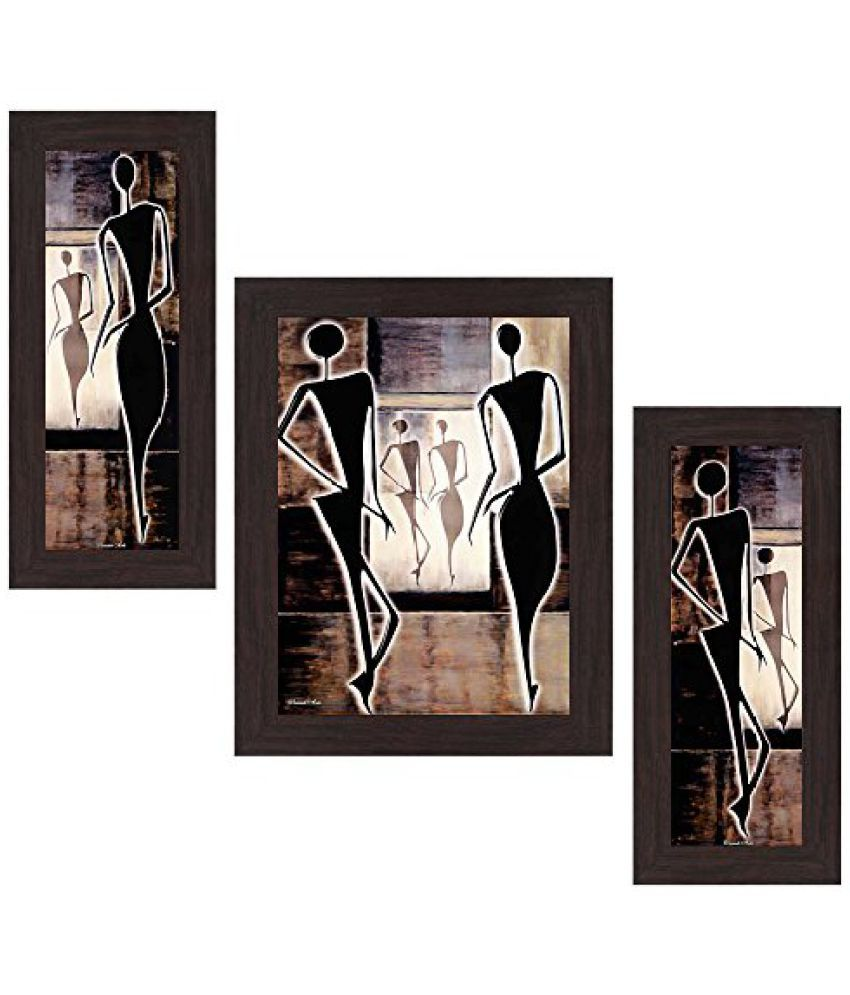 Wens View of Still Life MDF Wall Art (14.5 cm x 29 cm x 1 cm, Set of 3)
