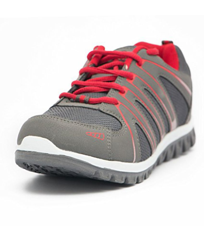 Asian Mens Mesh Jump 01 Dark Grey Red Range Running Shoes  available at snapdeal for Rs.499