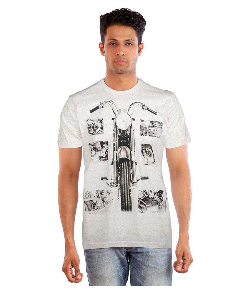 Huetrap Off-White Round T-Shirt