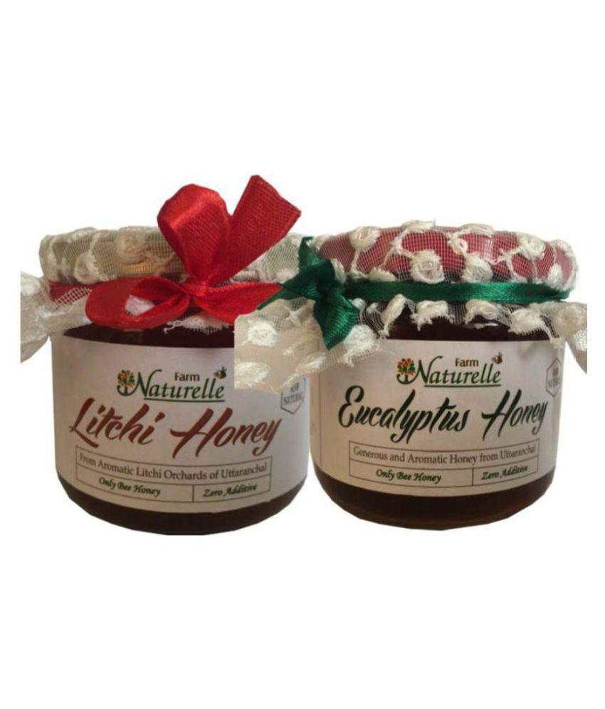 Farm Naturelle Raw Honey Litchi & Eucalyptus 450 gm Pack of 2