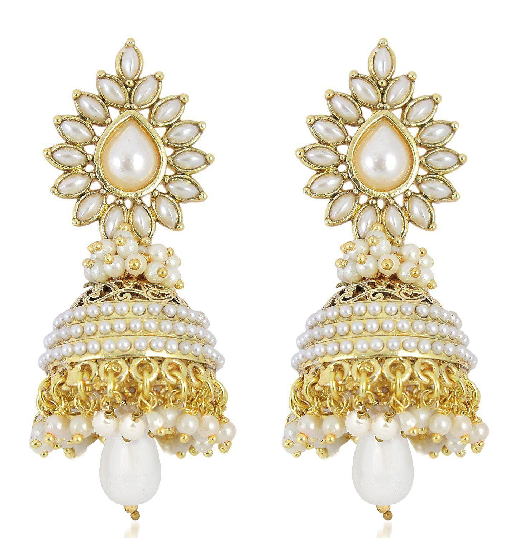 YouBella Golden Jhumki Earrings