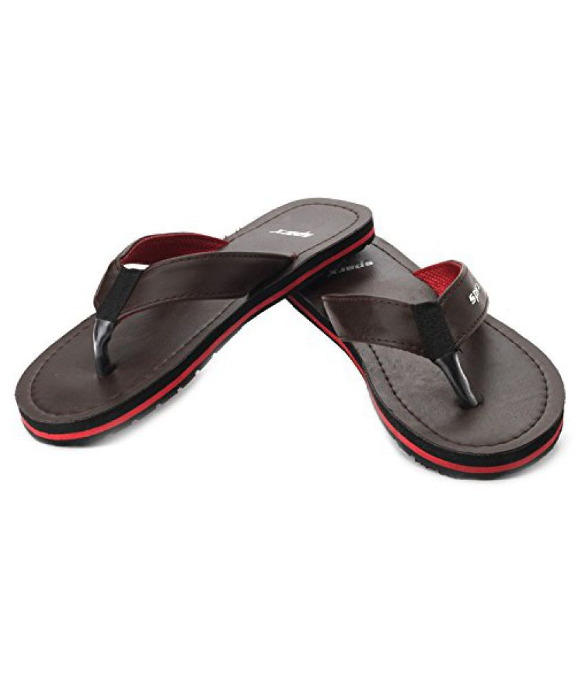 24e13e6bc Sparx Men s Brown Flip Flops and House Slippers (SFG-525) - Buy Sparx Men s  Brown Flip Flops and House Slippers (SFG-525) Online at Best Prices in  India on ...