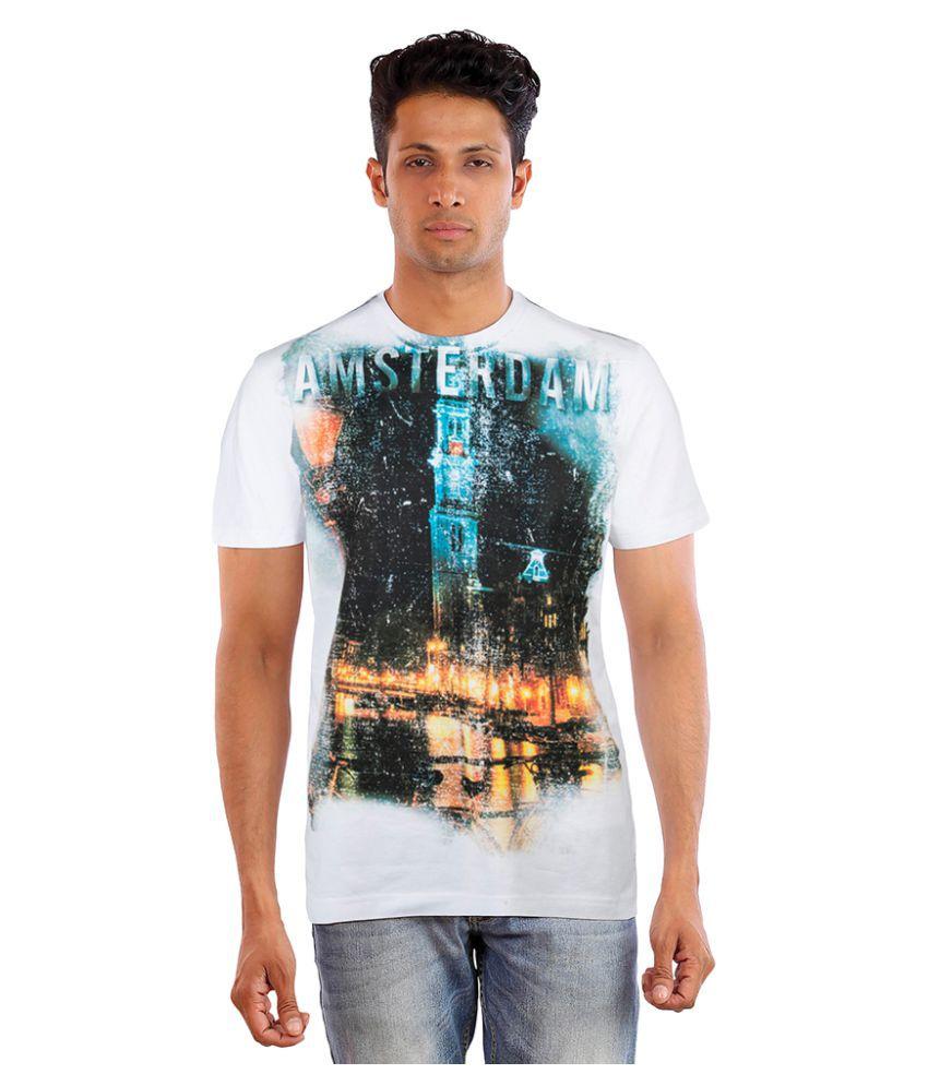 Huetrap White Round T-Shirt