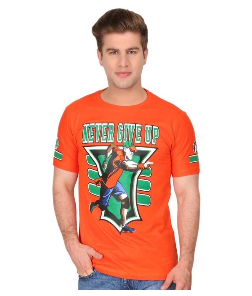 D & J Orange Round T-Shirt