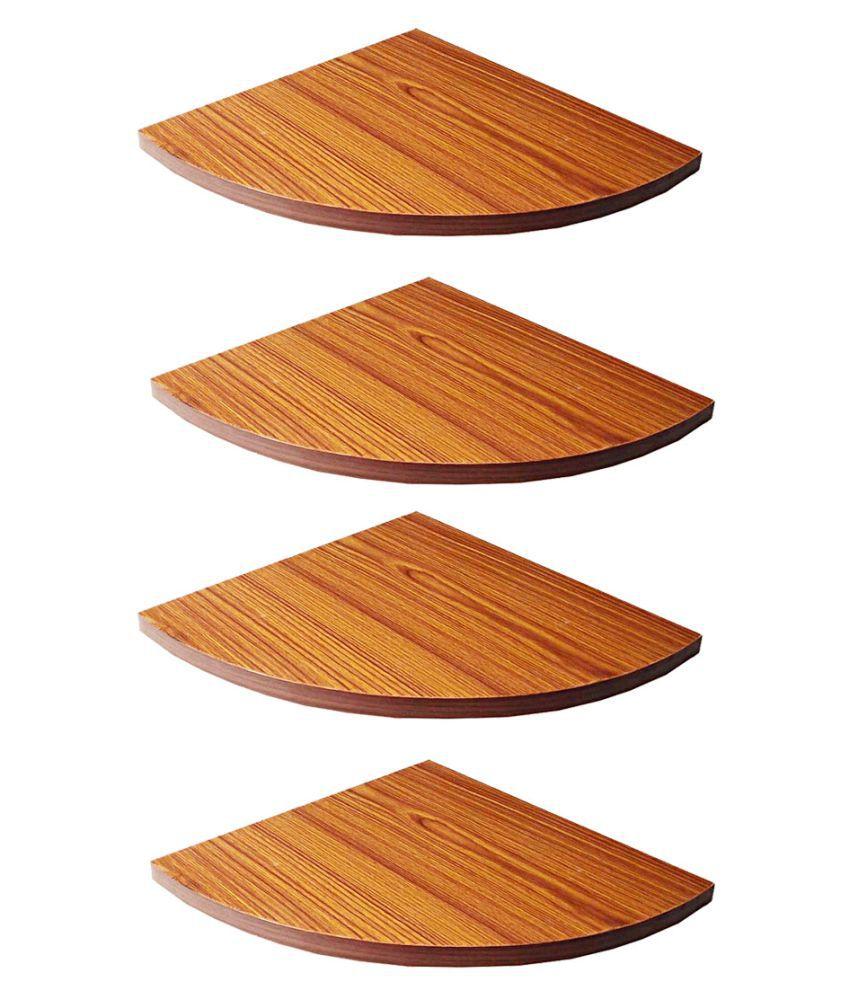 Masterfit 12 x 12 inch,Set of 4 Wooden Corner Shelf