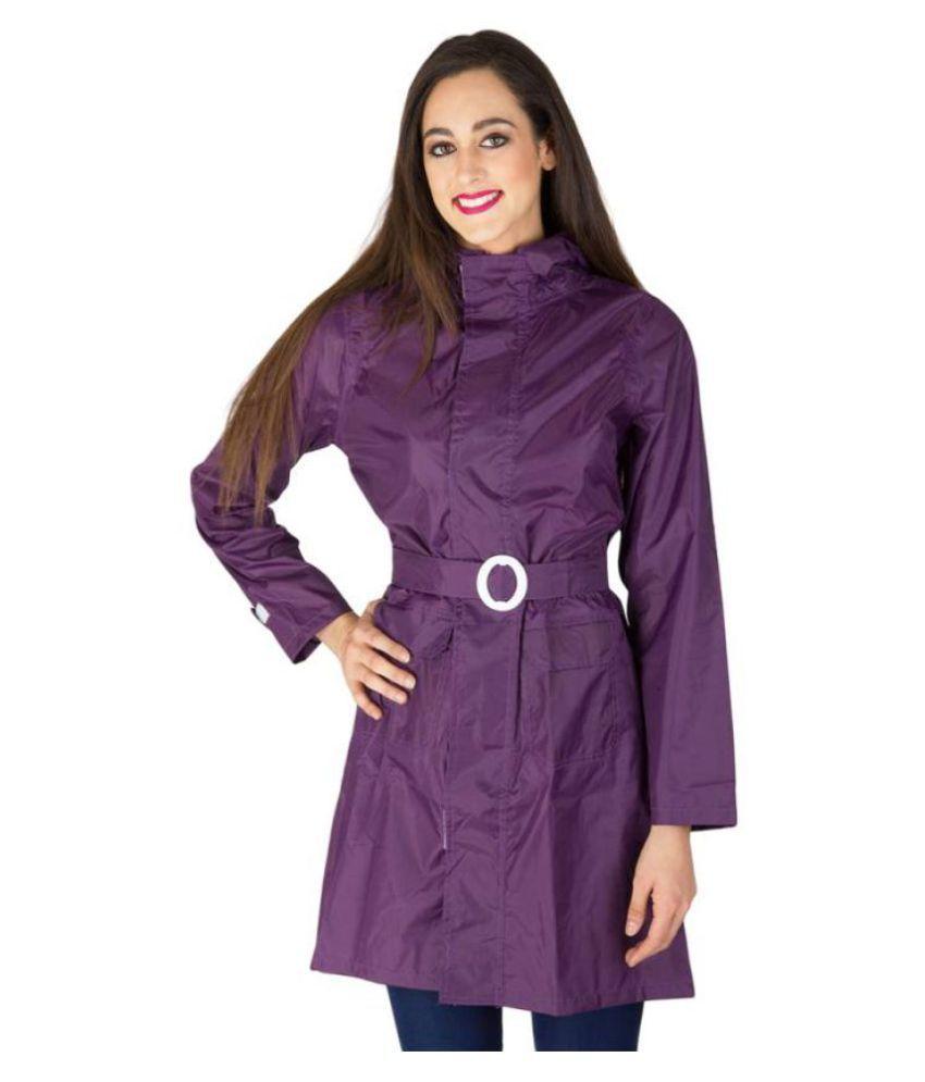 Burdy Polyester Long Raincoat