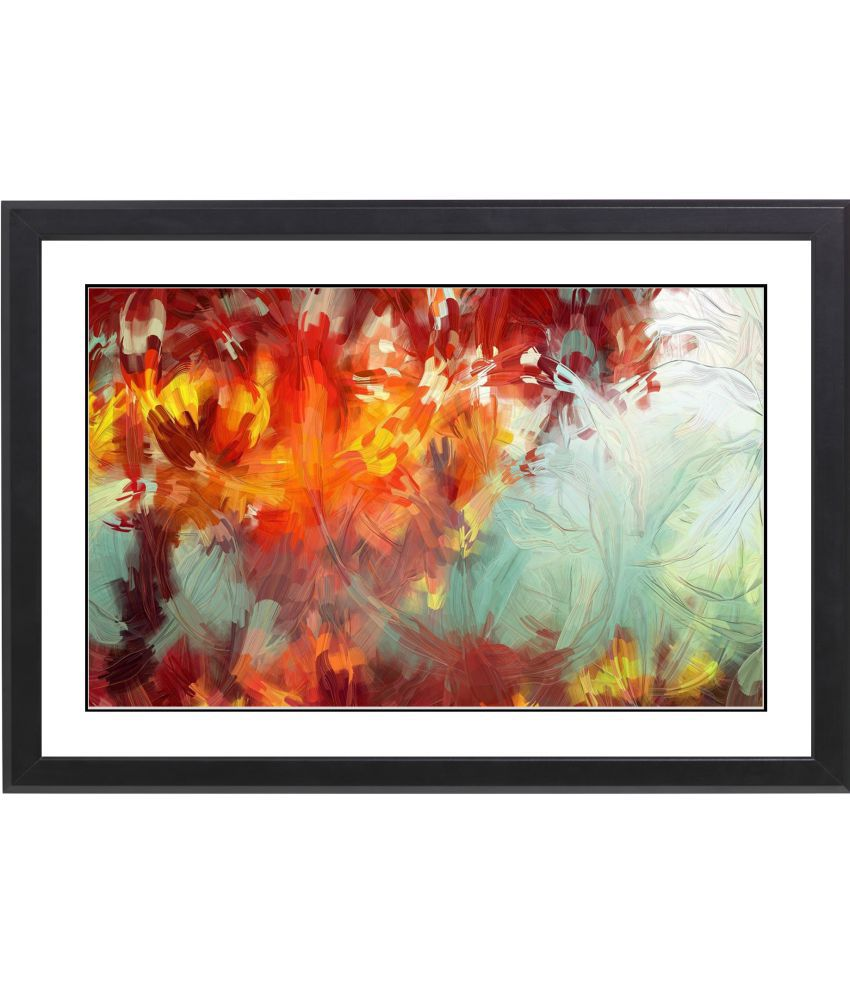 CRAFTSFEST BEAUTIFULL ABSTRACT MDF Painting With Frame- (30cmX20cmX1.5cm)