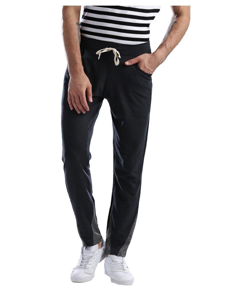 Hubberholme Navy Cotton Trackpants