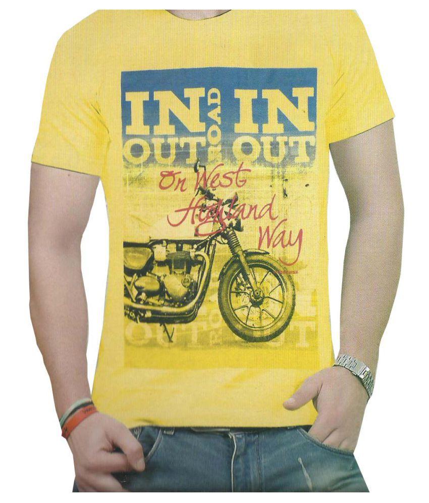 Thanabat Yellow Round T-Shirt