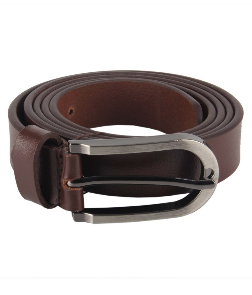 Bulls Hide Brown Leather Casual Belts