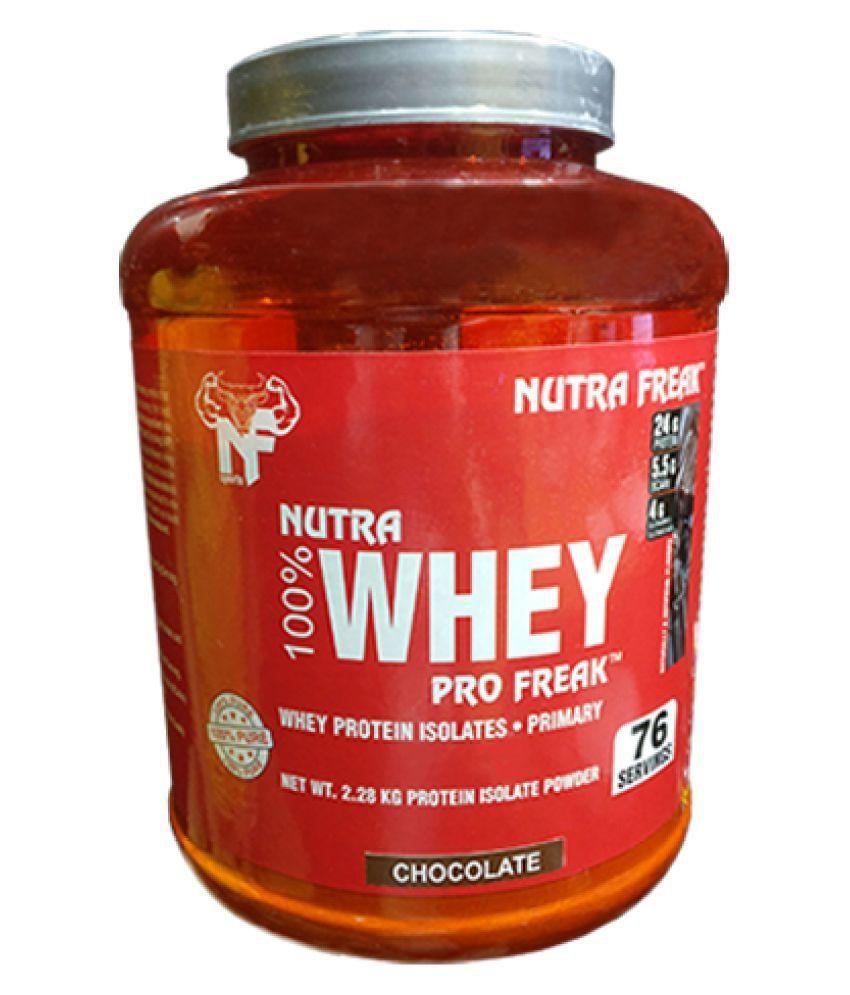 NUTRAFREAK SPORTS Nutra 100% Whey Pro Freak, 2.27 kg ( CHOCOLATE) 2280 gm