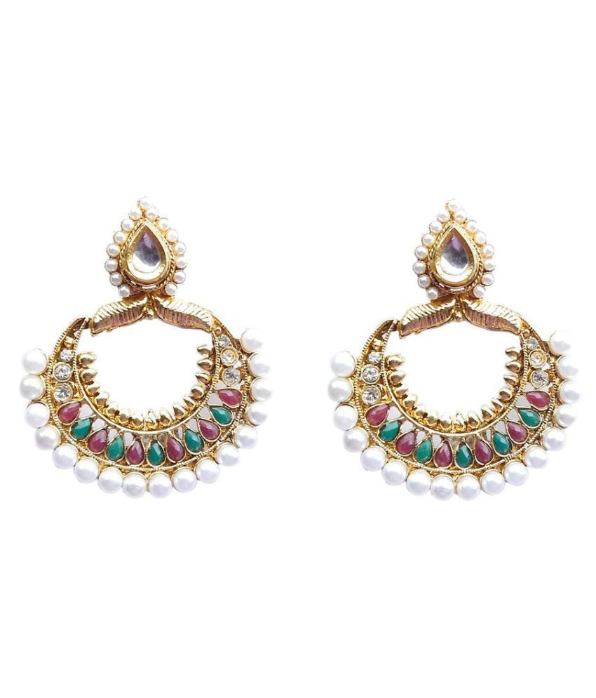 Trendyindia Gold Plated  Earrings For Womens