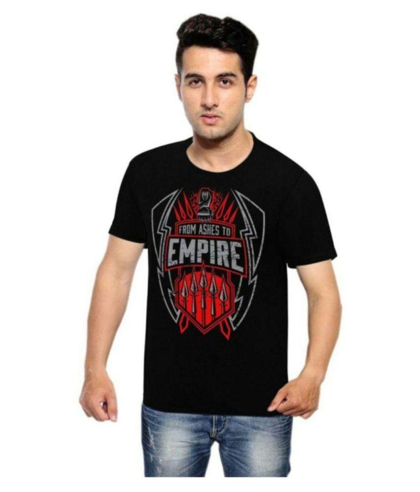 Rangifer Black Round T-Shirt