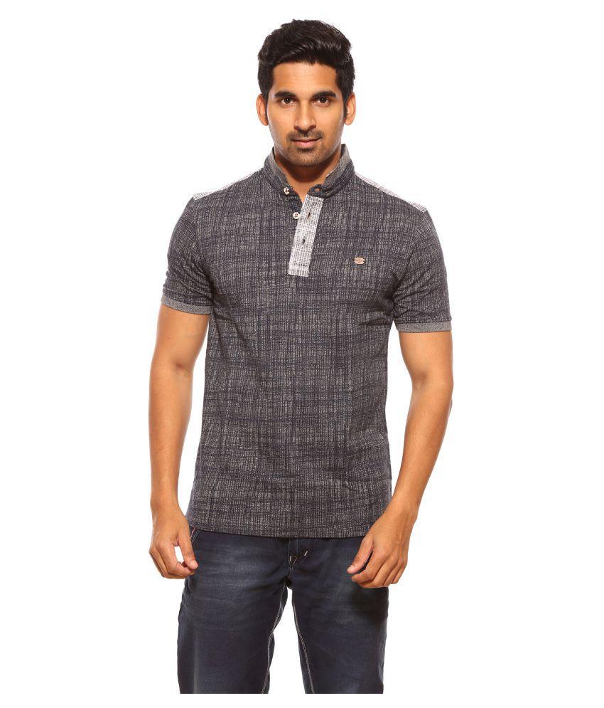 CROSSKNIT Grey High Neck T-Shirt