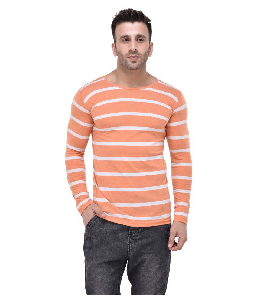 Tinted Orange Round T-Shirt