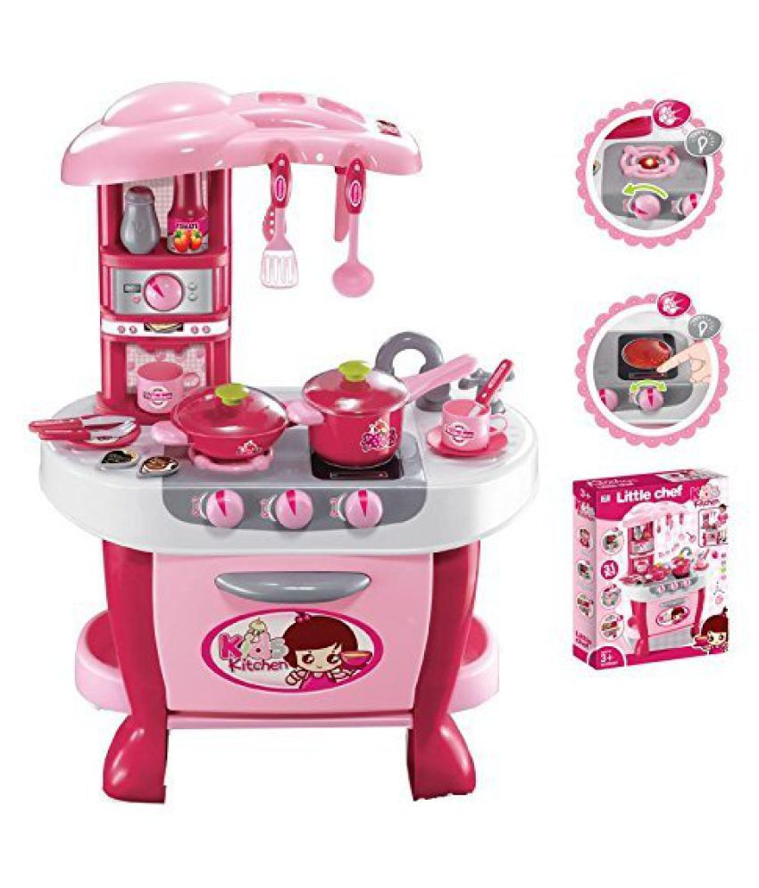 Viru Big Size Kitchen Set Toy With Music And Lights Playing