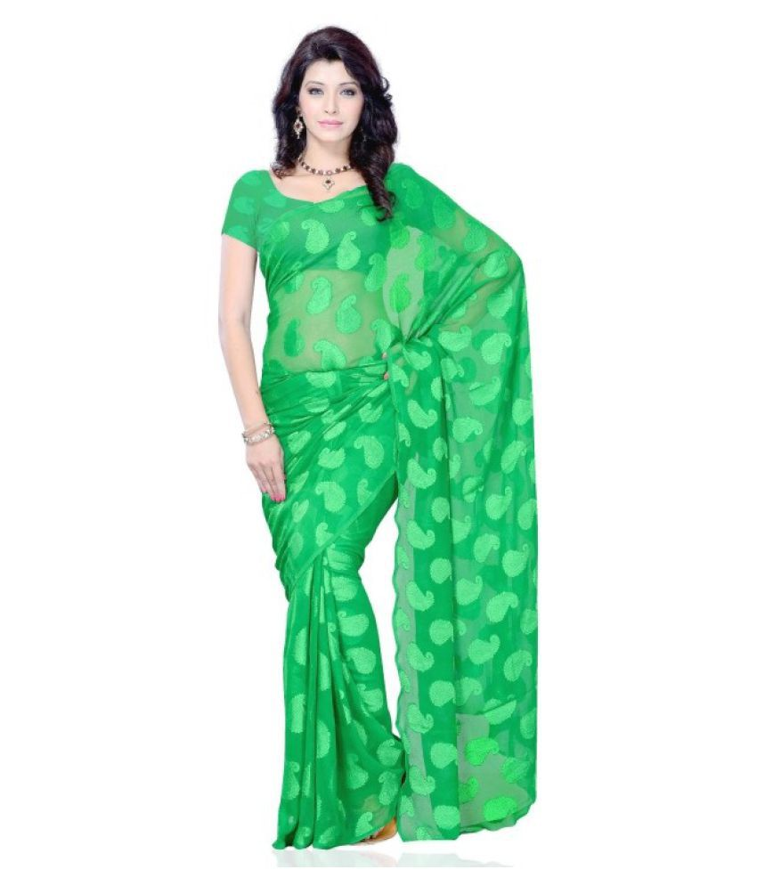 Diva Fashion Green Jacquard Saree