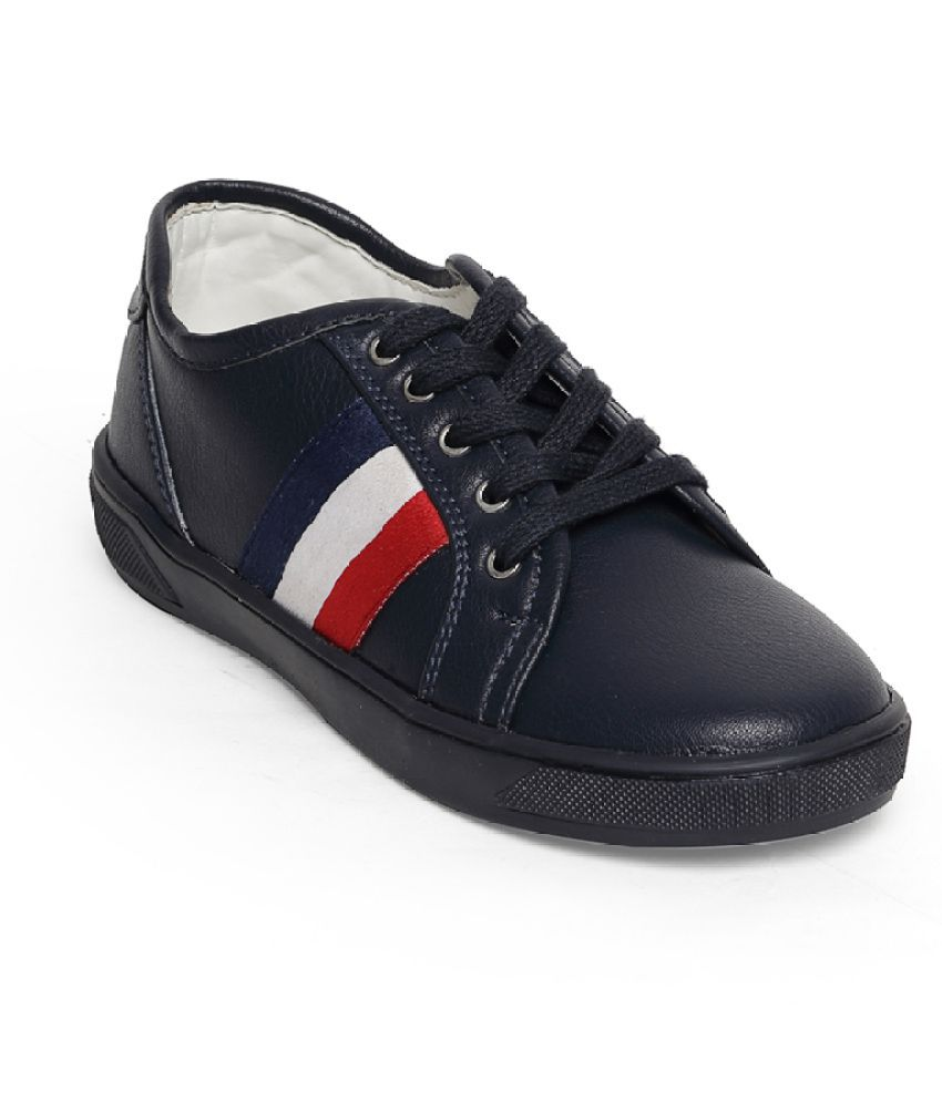 Bruno Manetti Unisex Kids Navy Faux Leather Sneakers