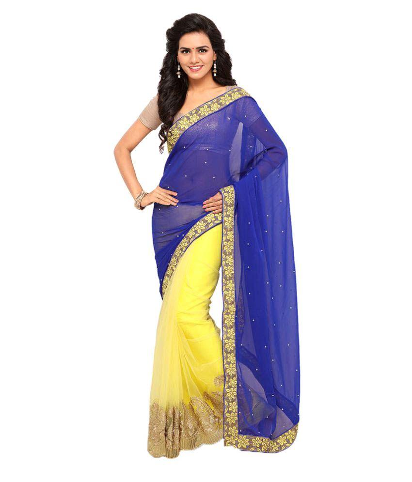 Fashion Storey Multicoloured Georgette Saree