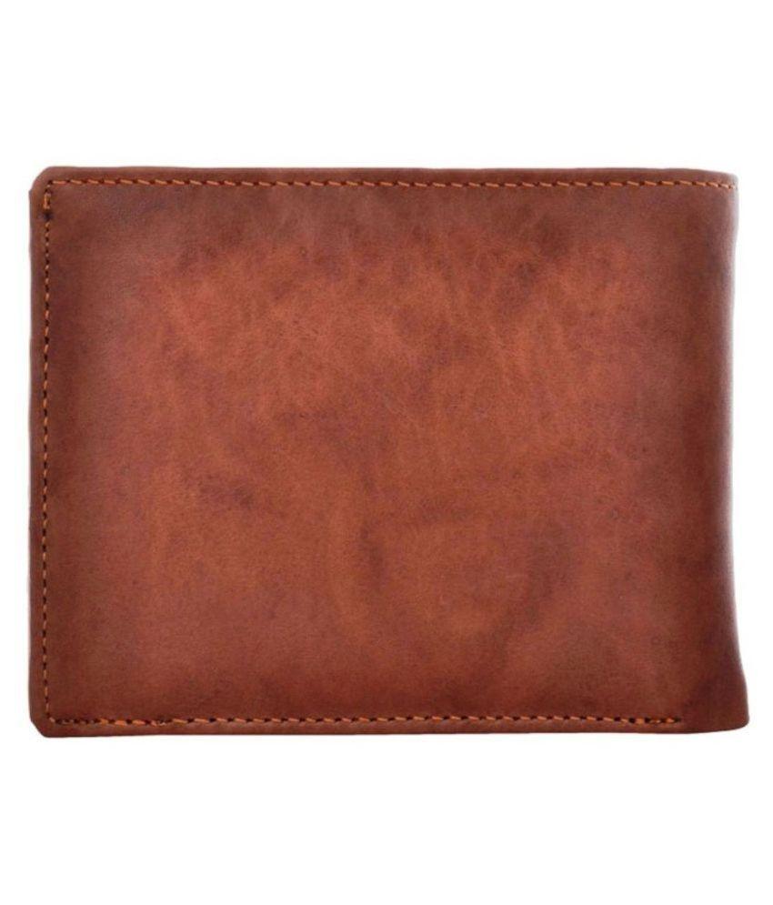 Tahiro Brown Leather Wallet -  Pack Of 1