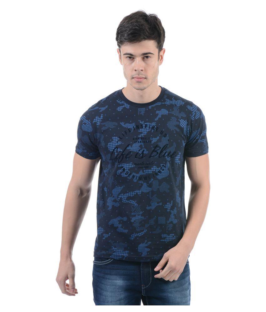 Monte Carlo Blue Round T-Shirt
