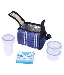 827a53dc0756 Topware TP060 Blue Check Lock n Seal 3 Containers Lunch Box (750 ml)