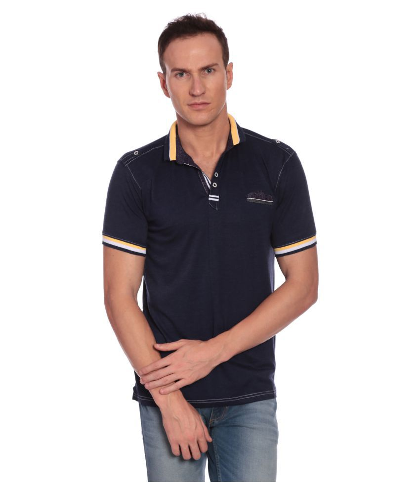 27Ashwood Navy Round T-Shirt