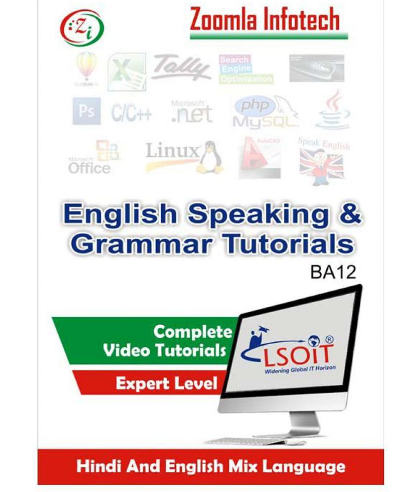 English Speaking & Grammar Tutorials by Zoomla Infotech (Hindi to English)  (DVD)