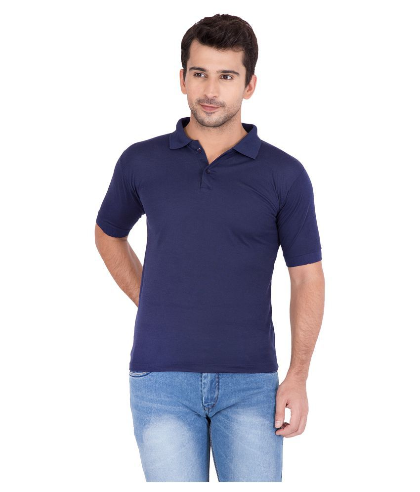 Jollify Blue Polyester Polo T-Shirt Single Pack