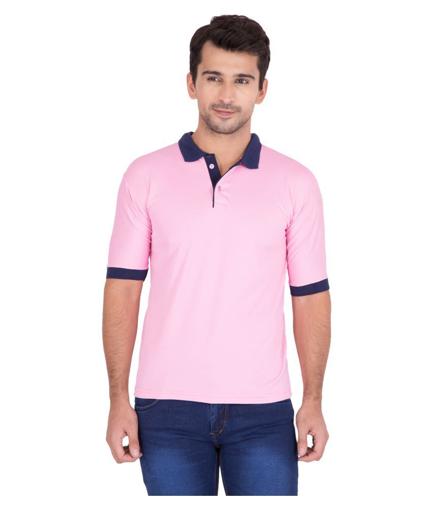 Jollify Pink Polyester Polo T-Shirt Single Pack