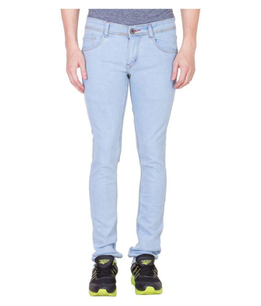 maxxone Light Blue Regular Fit Jeans
